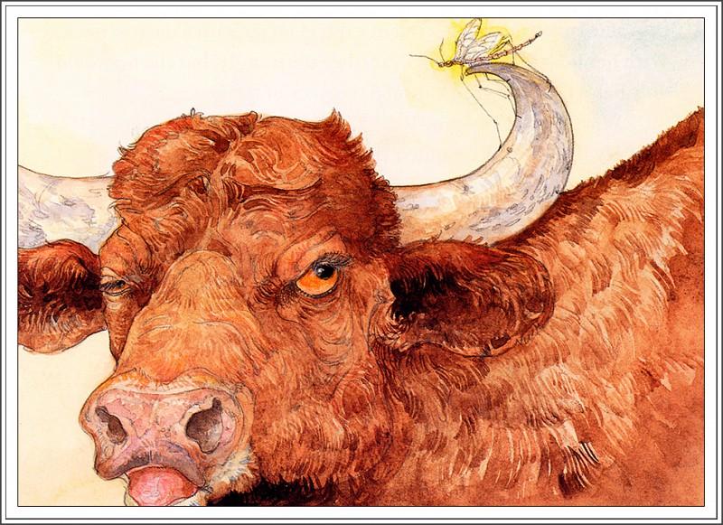 Esopo el mosquito y los cuernos del toro
