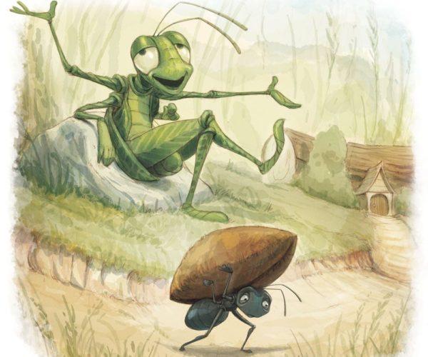 la hormiga y el saltamonte esopo fabula