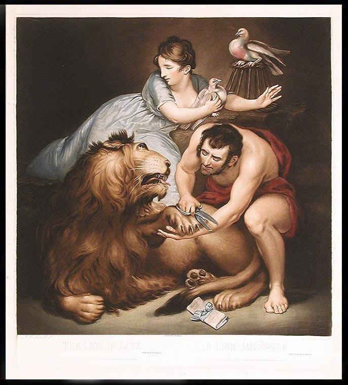 Fabula: El leon enamorado esopo