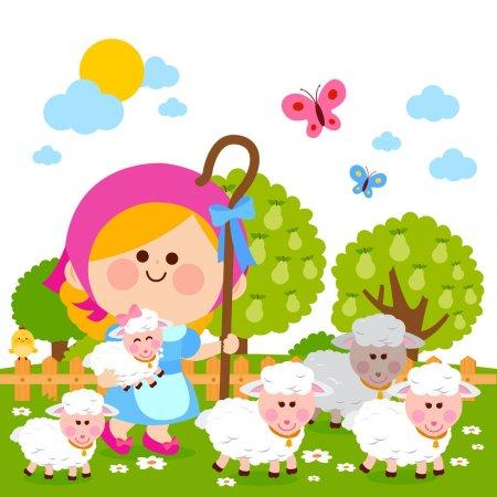 La pastorcita y sus ovejas